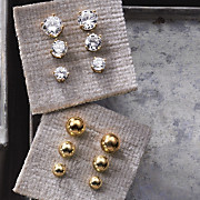 Post Earrings 6 Pair Set