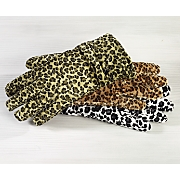 Gloves, Animal Print Velvet