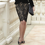 Skirt Black Lace