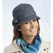 Hat Multicolored Tweed Cloche