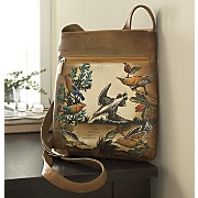 leather bird handbag