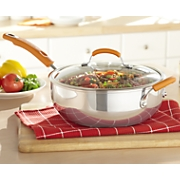 Rachael Ray Chefs Pan Stainless Steel 6 Qt