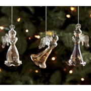 Angel Ornaments Set of 3 Egyptian Glass