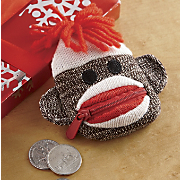 Coin Purse Sock Monkey