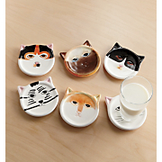 Cat Coasters Set 6 Pc