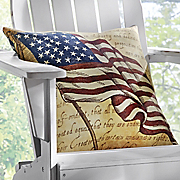 stars and stripes accent pillow