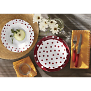 12 piece polka dot dinnerware set