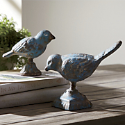 set of 2 bird figurines 48