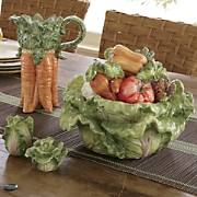 Garden Pitcher Salt and Pepper Set and Soup Tureen