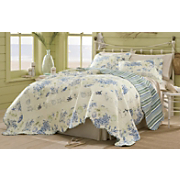 Blue Coral Oversized Reversible Cotton Quilt And Sham