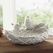 ceramic bird dish