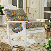 Rocking Adirondack Chair and Pattern Perfect Adirondack Cushion