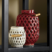 set of 2 bailey lattice lanterns