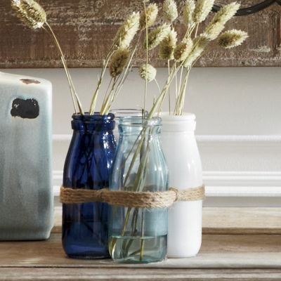 set of 4 milk bottle vases