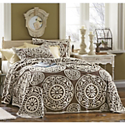 Medallion Chenille Bedspread And Sham