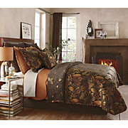 Falling Leaves Reversible Coverlet Sham and Decorative Pillow