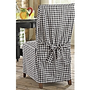 Chair Cover Black Gingham