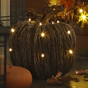 Pumpkin Lighted Grapevine Small