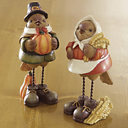 Harvest Bird Figurines Set Of 2