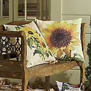 Pillow, Indoor/Outdoor Sunflower