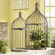 Birdcages Decorative Set Of 2