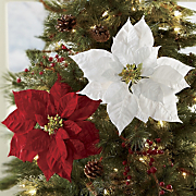 Set of 2  Poinsettia Clips