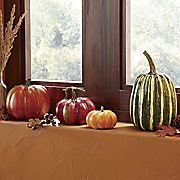Set Of 4 Pumpkins