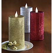 Flameless Candles Glitter