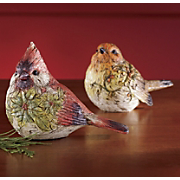 Figurines Festive Feathered Friends Set Of 2