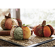 Set Of 3 Fabric Pumpkins