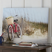 Bicycle On The Beach Canvas