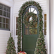 Vienna Porch Tree Garland and Wreath