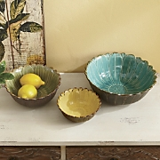 set of 3 daisy bowls