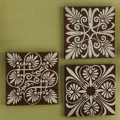 set of 3 wall plaques