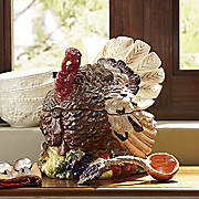 Turkey Soup Tureen With Ladle