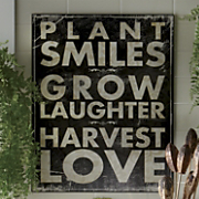 plant smiles plaque