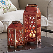 set of 2 candle lanterns 78
