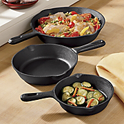 3Pc Prsn Cast Skillet Set