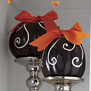 Set Of 2 Elegant Pumpkins