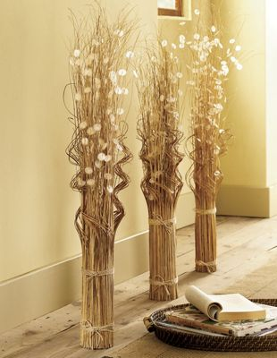 Bamboo Bundle With Capiz Shells