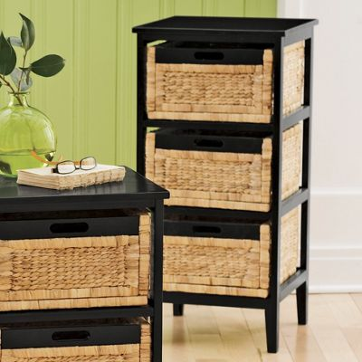 3 Drawer Seagrass Storage Table