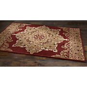 star medallion wool rug