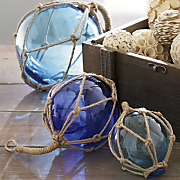 Set Of 3 Buoyant Glass Balls