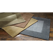 madrid hand tufted wool border rug