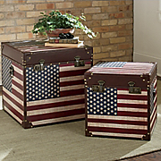 Set Of 2 Americana Trunks