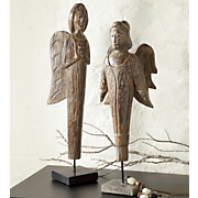 Set Of 2 Rustic Angels