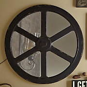 Wagon Wheel Mirror