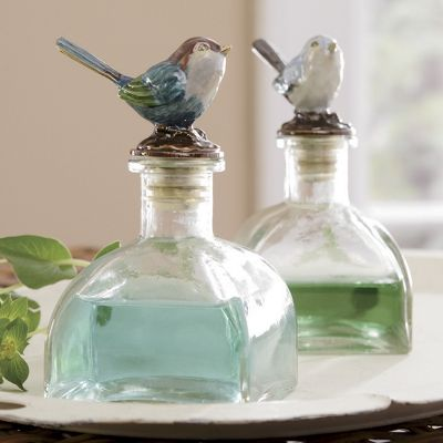 Set Of 2 Decorative Bottles