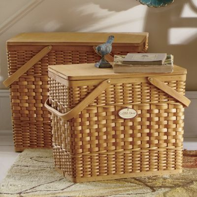 set of 2 picnic baskets