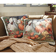 Pumpkin Garden Pillow By Susan Winget